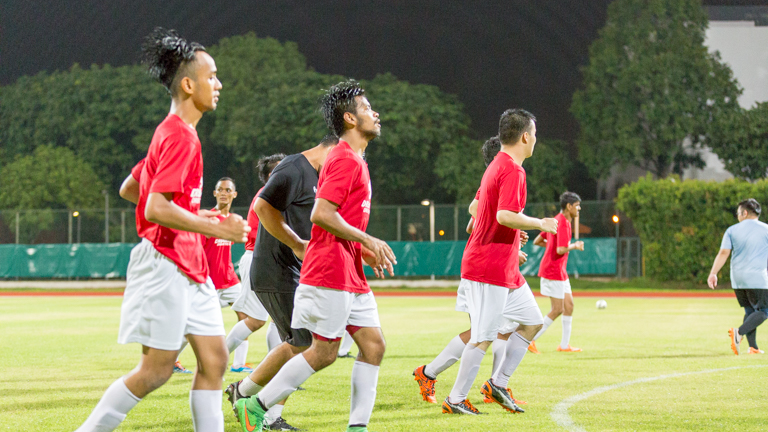 Singapore's CP football team training for the Asean Para Games 2015. Picture by Wei Yuet Wong