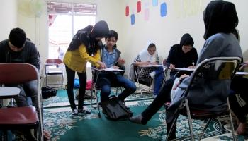 A school for refugees, by refugees